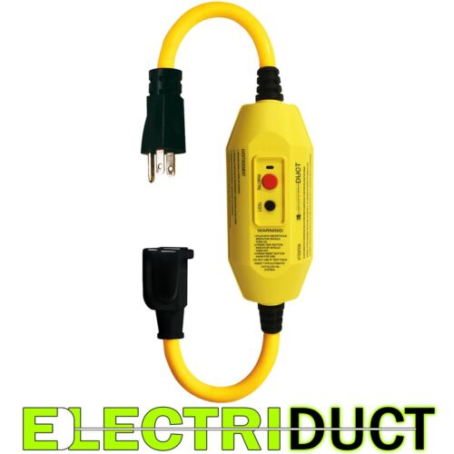 "GFCI Inline with 18"" Single Outlet Cord - Electriduct"