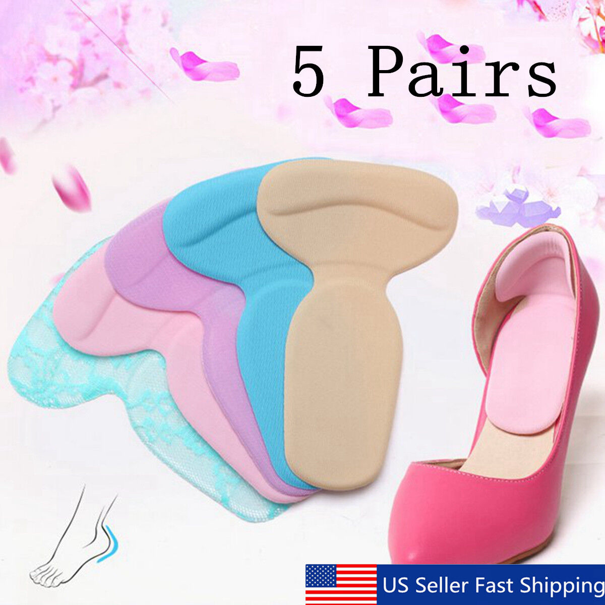 Silicone Gel High Heel Liner Grip Cushion Protector Foot Care Shoe Insole   US! Clothing & Shoe Care