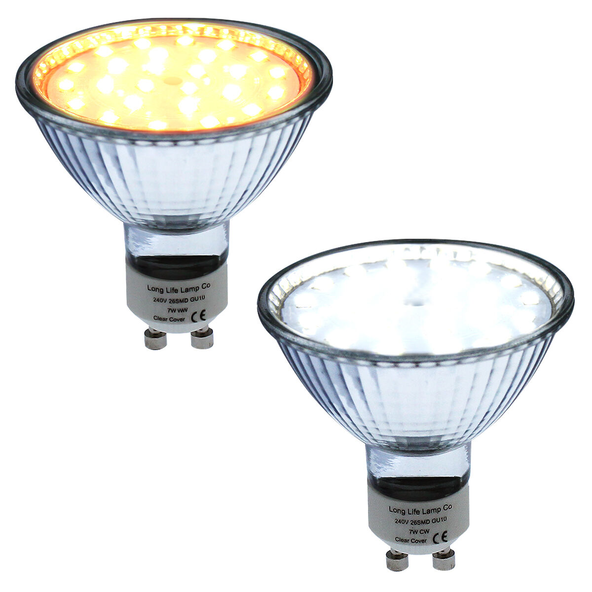 7w 63mm gu10 led replacement for 63mm halogen bulb 650 lumens warm or cool white ebay. Black Bedroom Furniture Sets. Home Design Ideas