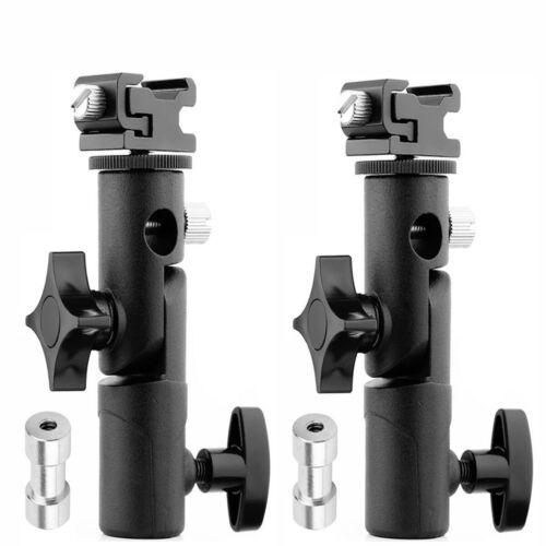 2Pack Flash Shoe Adapter Swivel Light Stand Mount Umbrella Holder Bracket E Type