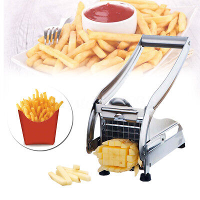 Stainless Steel French Fry Cutter Potato Vegetable Slicer Chopper Dicer 2