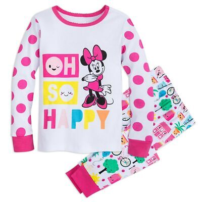 NWT DISNEY STORE 4 5 6 7 8 10 Minnie Mouse Pajamas Sleep Set PJS