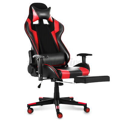 Pc Racing Gaming Chairs Ergonomic Recliner Leather Office Computer Swivel Chairs