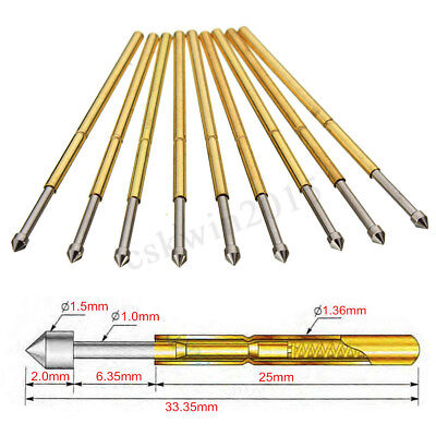 50pcs P100-e2 Dia 1.36mm Length 33.3mm 180g Spring Test Probe Pogo Pin Tool