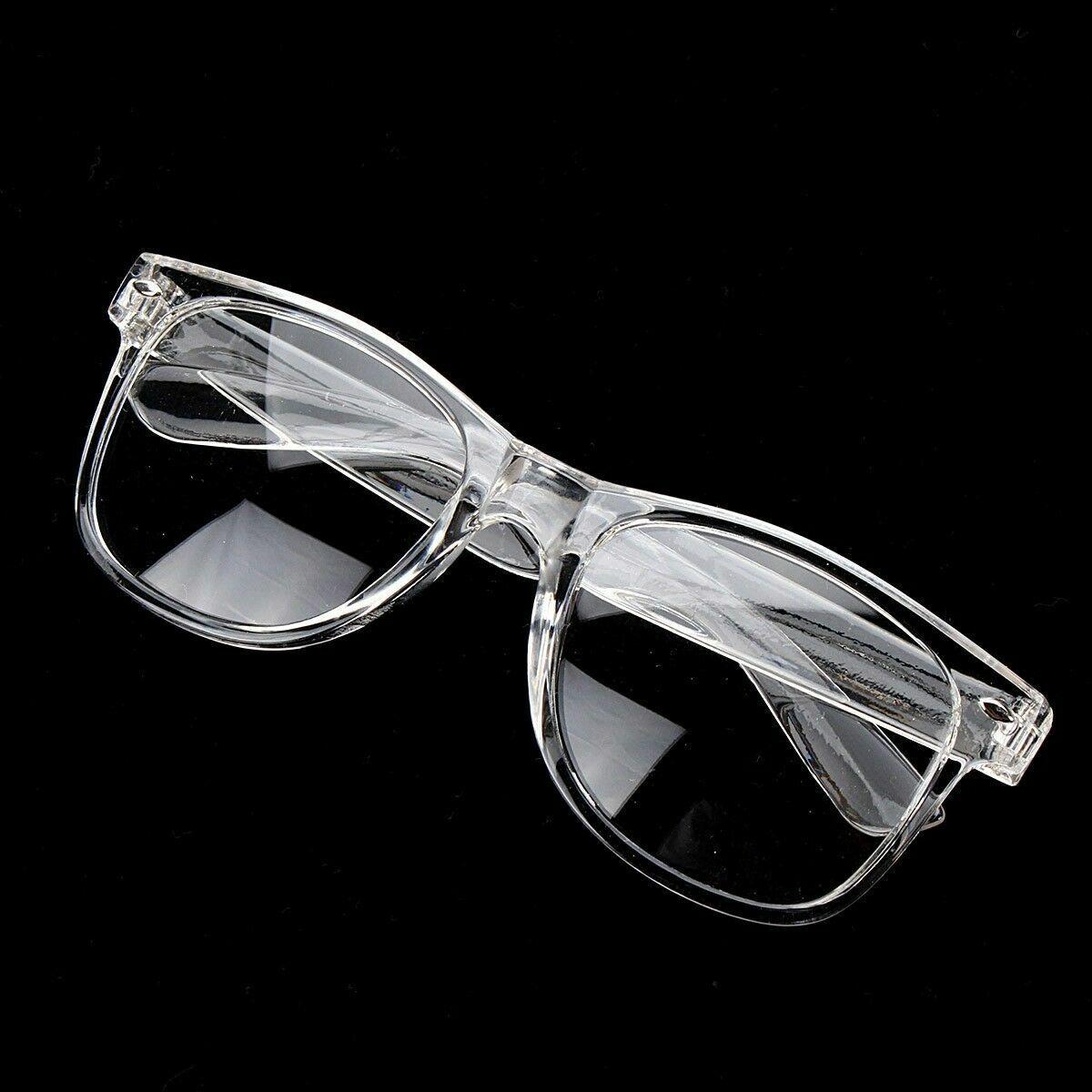 White Crystal Clear Translucent Square Celebrity Diva Frames