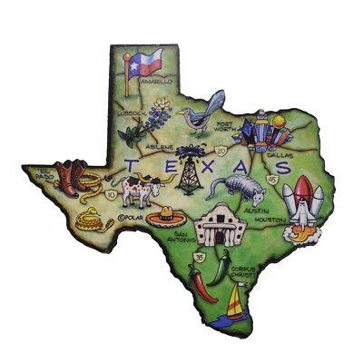 (Texas State Artwood Jumbo Fridge Magnet Large Refrigerator Travel Souvenir Gift)