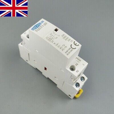 TOCT1 2P 20A 220V/230V 50/60HZ Din rail Household ac Modular contactor 2NO