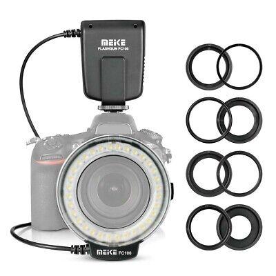 Meike FC-100 LED Makro Ringblitz Blitz Licht für Canon Nikon Olympus DSLR Kamera Nikon Ring