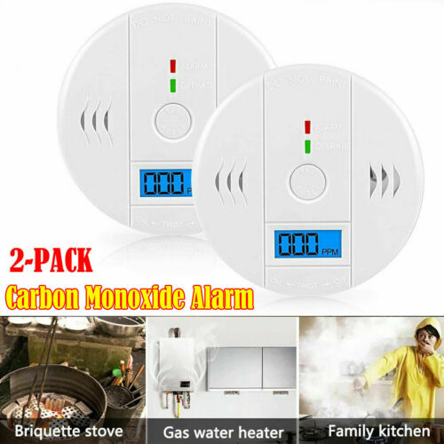 LCD Combination CO Carbon Monoxide Gas Detector Alarm Securi