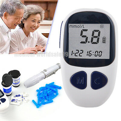 Blood Glucose Starter Glucometer Sugar Tester Monitor Diabetes 50 strips USPS A+