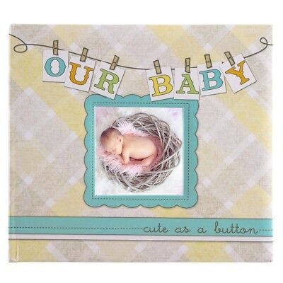 """""""Our Baby"""" Hardcover Personalized Photo Album & Memory Book Infant Boys Or Girls"""
