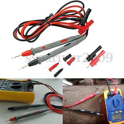 20a Probe Test Lead Alligator Clips Clamp Cable Agilentflukeideal Multimeter