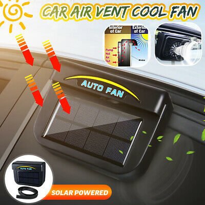 Solar Sun Powered Car Auto Window Air Vent Cooling Fan System Cooler Radiator -