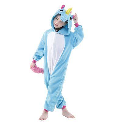Kids Pajamas Kigurumi Unisex Cosplay Animal Costume Unicorn One Piece Cute Party - Party Animal Costume