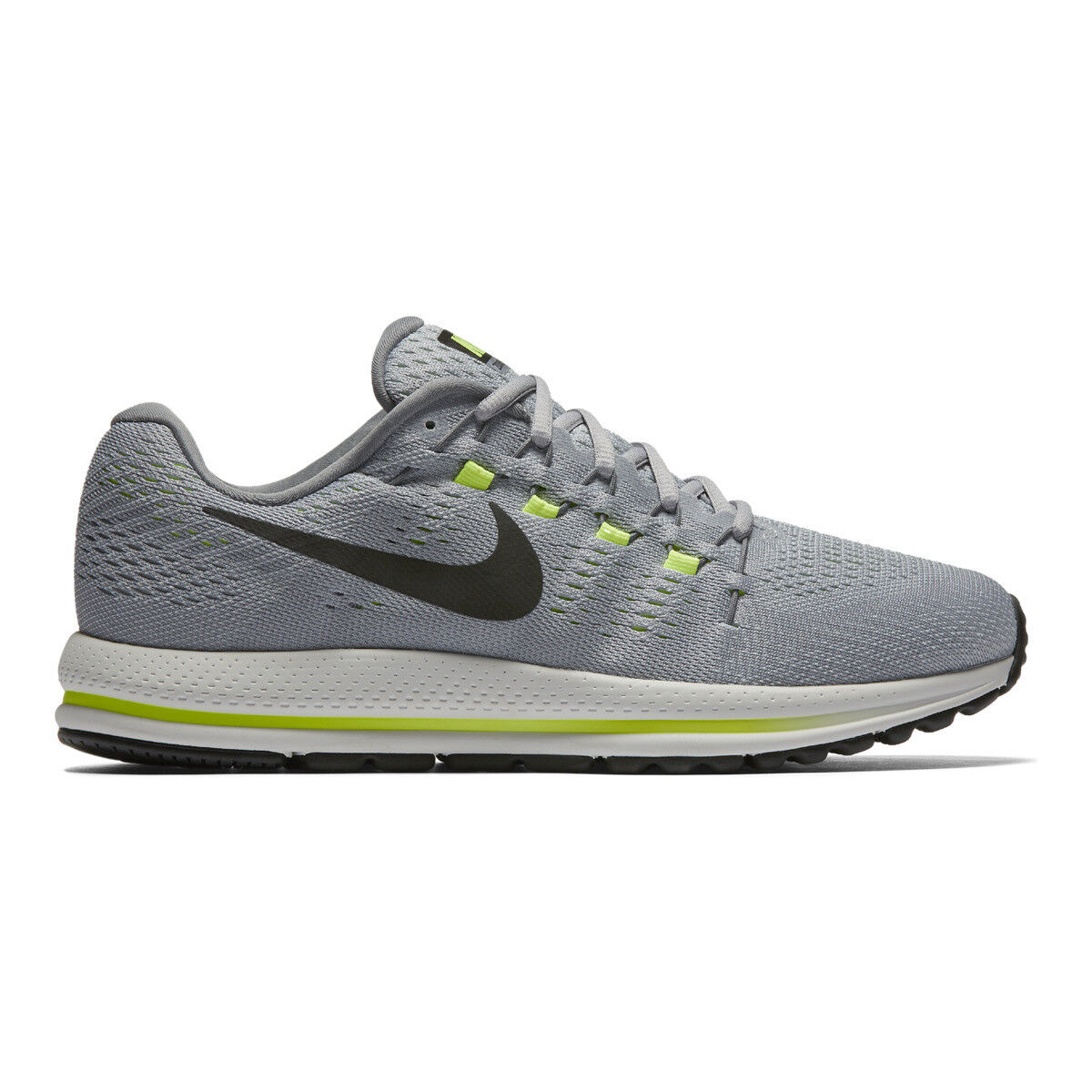 3818e55c2 Nike Air Zoom Vomero 12 Grey Black Volt Men Running Shoes SNEAKERS ...