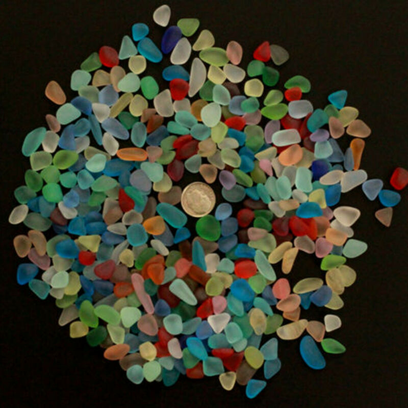 sea beach glass mixed color lot bulk wholesale blue green red yellow jewelry