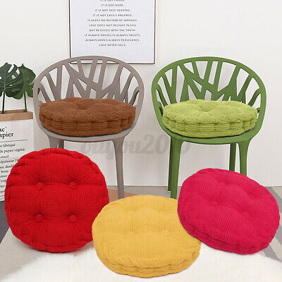 """3"""" Thick Chair Cushion Pads Seat Corduroy Round/Square Patio"""
