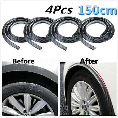 4pcs Carbon Fender Flare Extension Wheel Eyebrow Arch Trim Protector Lip