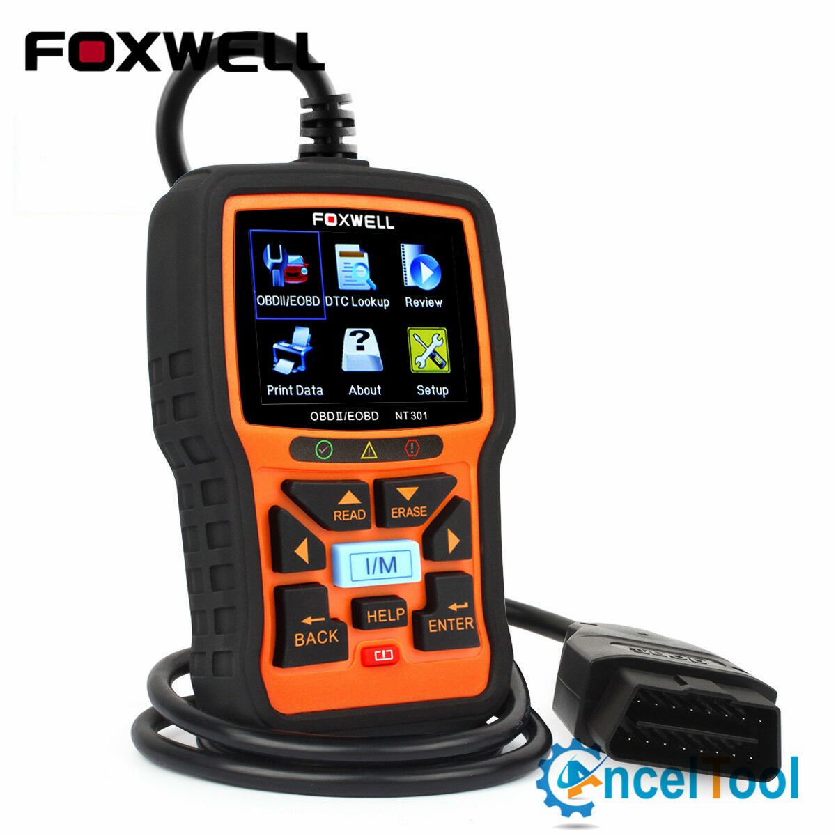 Foxwell NT301 Check Engine Light Emission Test EOBD OBD2 Scanner Code Reader