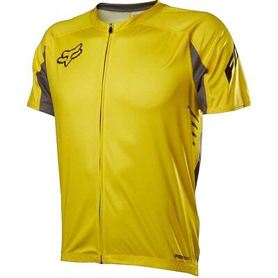 Fox Racing  Attack Zip s/s Jersey Yellow size large MSRP $89.95 NWT in original Fox Attack Jersey