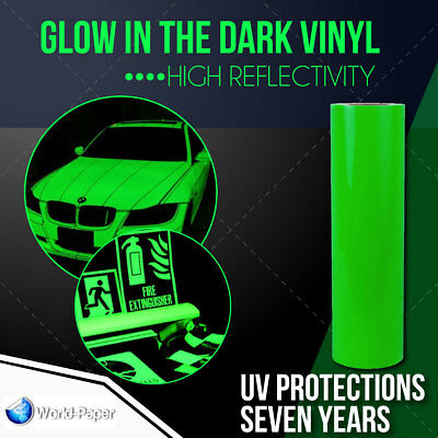 Glow In The Dark Reflective Vinyl Adhesive Cutter Sign 12x3 Feet