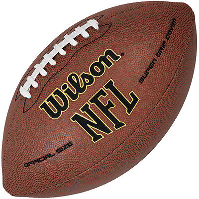 Wilson NFL Super Grip Composite American Football Ball Official Size - Tan