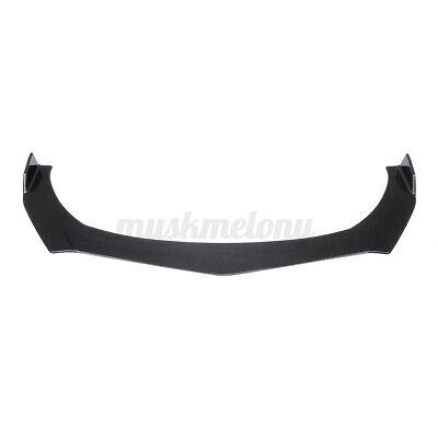 Carbon Fiber Front Bumper Lip Spoiler Lower Splitters Cover For AUDI A3 A4 A5 A6