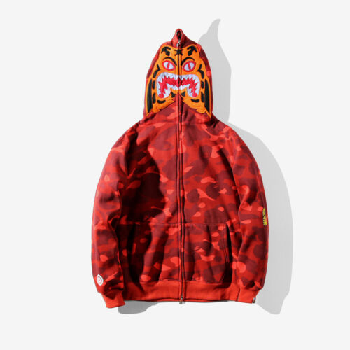 Bape A Bathing Ape XXV Double Cap Shark Head Camo Hoodie Jacket Coat Sweatshirt