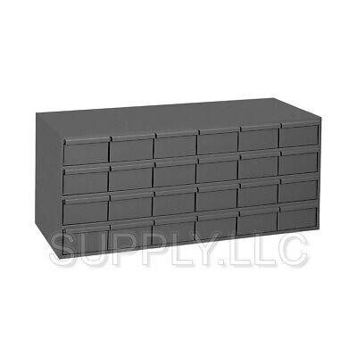 Metal 24 Bin Storage Drawer Cabinet Steel Parts Nuts Bolts Fasteners Screws