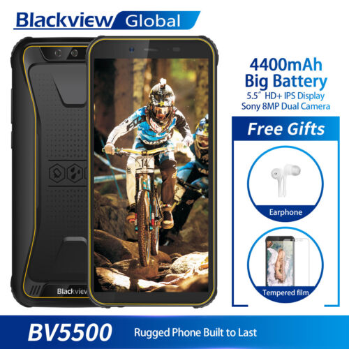 "5,5"" Blackview BV5500 IP68 Wasserdichte Handy 2GB+16GB 4400mAh 2-SIM Smartphone"