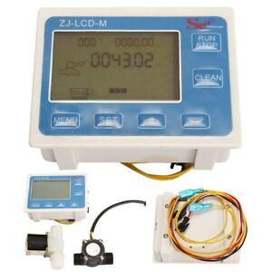 1/2'' Water Flow Control LCD Display Meter + Solenoid Valve + Flow Sensor New US