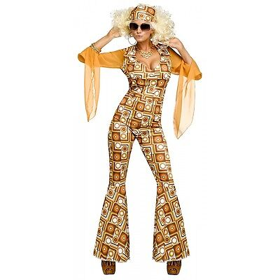 70s Disco Costume Adult Diva Halloween Fancy Dress Outfit - Halloween Disco