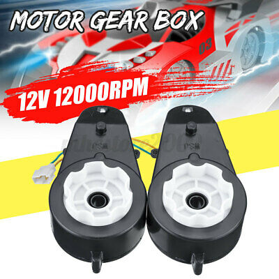 2pcs 12v 12000 Rpm Electric Motor Gear Box For Kids Ride On Car Bike Toy Parts