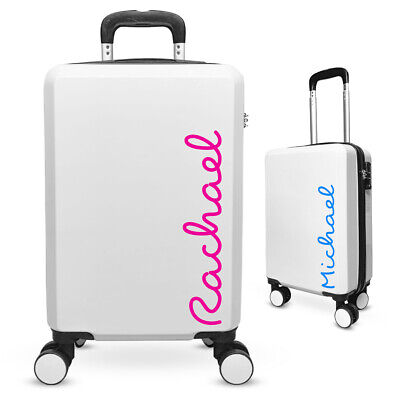 Personalised LOVE font - ISLAND Edition Cabin Suitcase Luggage Travel Bag