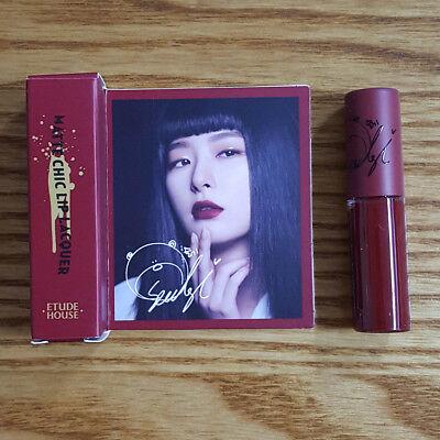 Seulgi Red Velvet Etude House Autographed Miniature Lip Lacquer Promotion item