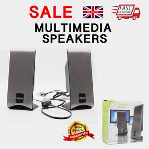 USB Multimedia Stereo Speakers System For PC Laptop Computer Desktop iShine