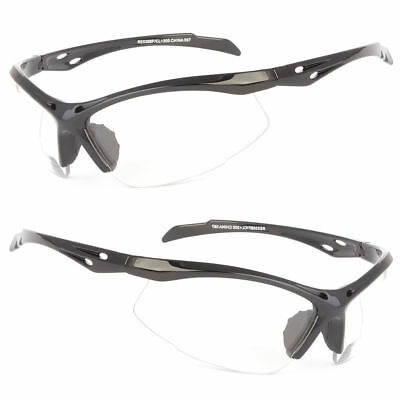 Bifocal Safety Reading Clear Glasses Sunglasses Driving Sport 1.0 1.5 2.0 2.5 (Sports Reading Glasses)