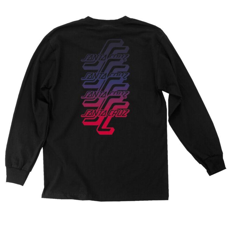 Santa Cruz OGSC SPLIT FADE LONG SLEEVE Skateboard Shirt BLACK XXL