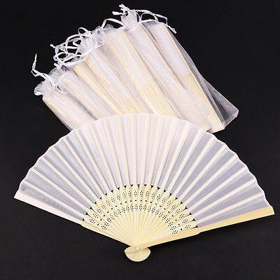 20 x schöne Fächer Handfächer Taschenfächer Stofffächer Hochzeit Deko Geschenk ()