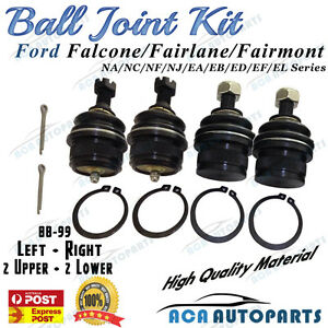Upper/Lower Ball Joints Kit For Ford NA-NL EA-EF EL Falcon Fairlane LTD Fairmont