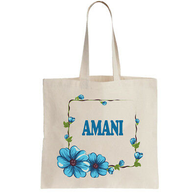 Amani Ladies Personalised Shopping Bag Tote can amend to ANY NAME Shopper gift
