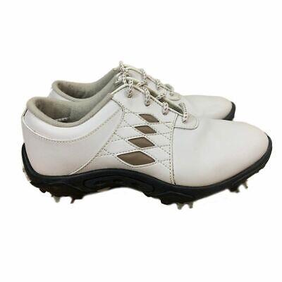 Argyle Golf Schuhe (Footjoy Junior - White/Taupe Argyle Golf Shoes (FJ# 45065) US 4M)