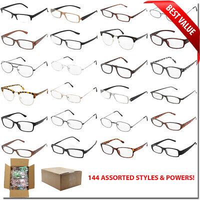 READING GLASSES WHOLESALE BULK LOT 144 PCS MIX STYLES WEAK MEDIUM STRONG (Bulk Reading Glasses Wholesale)