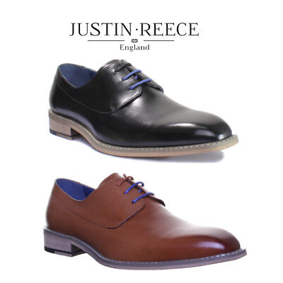 Justin Reece Rodney Mens Leather Formal Brogue Shoes Sizes UK 6 - 12