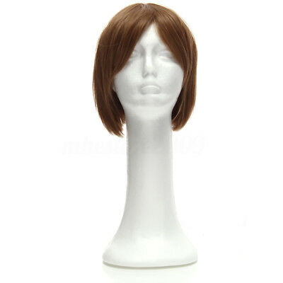 Styrofoam Long Neck Female Foam Head Model Glasses Hair Wig Mannequin Hat Stand