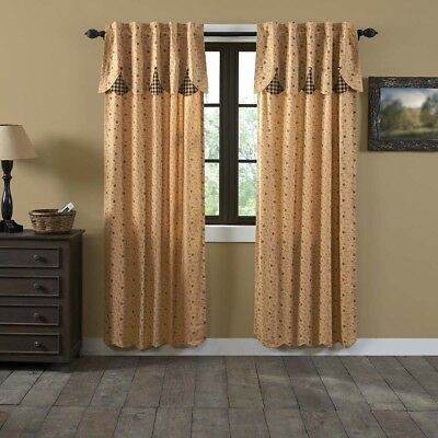 VHC Maisie Panel Curtain Set 84x40 ~ Country Ditsy Print