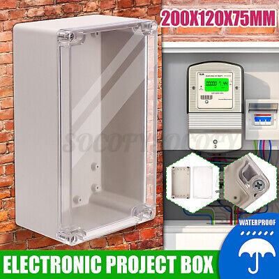 7.87x4.7x2.95 Clear Electronic Project Box Enclosure Project Waterproof Diy Us
