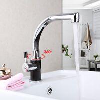 Deck Mounted Kitchen Sink Basin Monobloc Wash Basin Mixers Taps Chrome Faucet - ouboni - ebay.co.uk