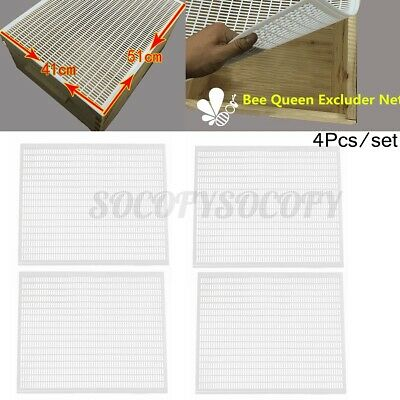 4x 10-frame Bee Queen Honey Excluder Trapping Net Grid Beekeeping Tool