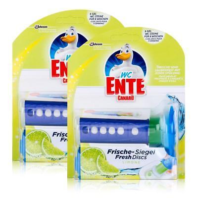 2x WC Ente Frische Siegel Starter Set Limone, 6 Gel Siegel